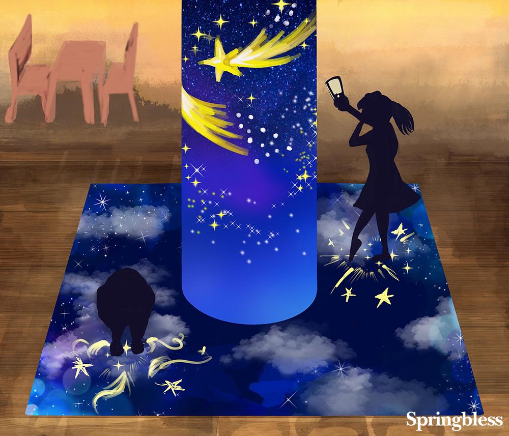 円柱_夜空